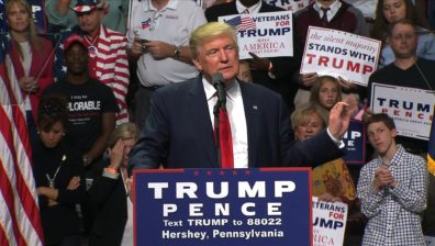 Trump, in first speech for Republicans, says voters must dump the Clintons