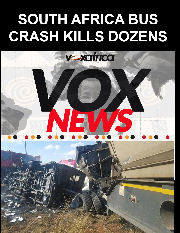 SOUTH AFRICA BUS  CRASH KILLS AT LEAST 24