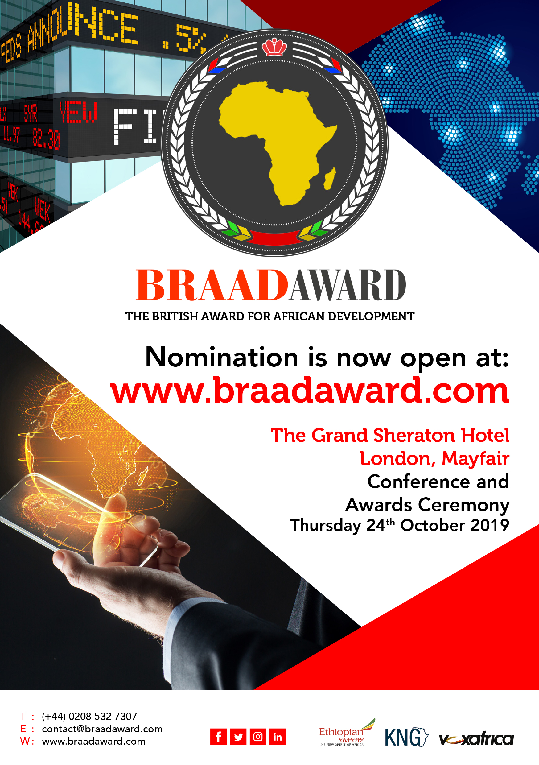THE BRAAD AWARD 2019 | THURSDAY 24TH OCTOBER 2019 | LONDON, MAYFAIR