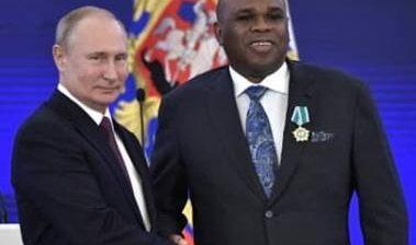 PRESIDENT PUTIN HONOURS AFREXIMBANK PRESIDENT WITH RUSSIAN NATIONAL AWARD