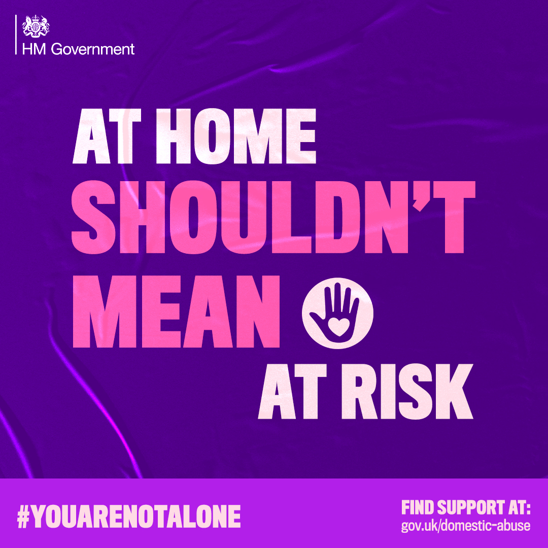 VICTIMS OF DOMESTIC ABUSE REMINDED #YOUARENOTALONE