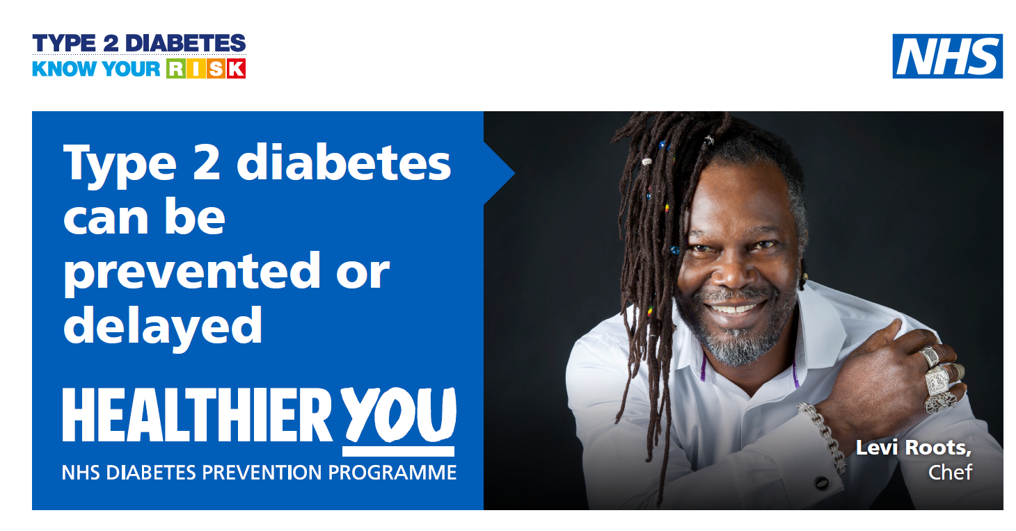 COMMUNITY VOICES AND WELL-KNOWN FACES GET BEHIND NHS PUSH TO URGE BLACK PEOPLE TO PREVENT OR DELAY TYPE 2 DIABETES